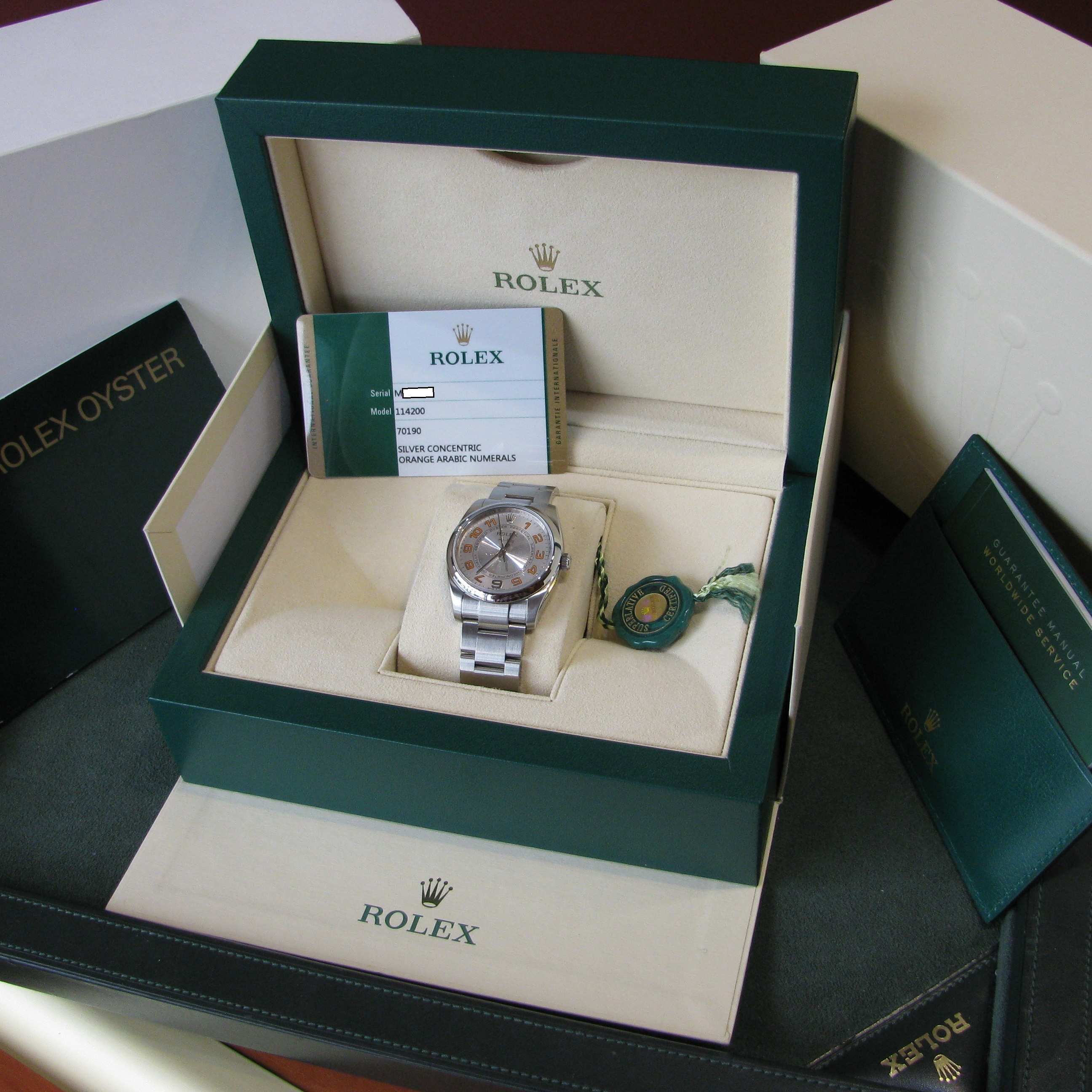 Rolex Oyster Perpetual Air-king Precision – 114200 – Silver
