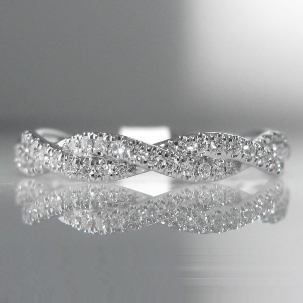 Diamond Plait Ring