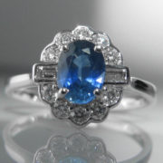 Sapphire and Diamond Ring - 1.3ct