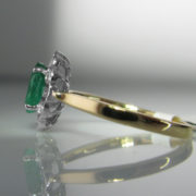 Emerald and Diamond Ring - 1.11ct