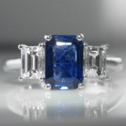 Sapphire and Diamond Trilogy Ring - 1.8cts