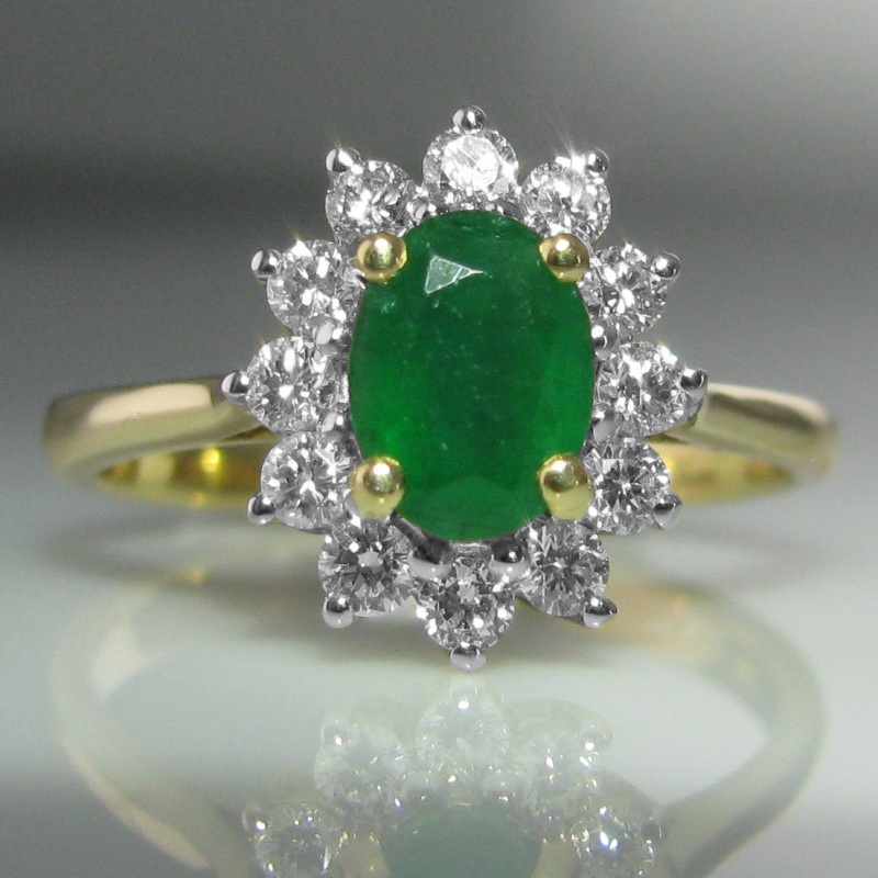 emrald emerald rings with fine cut oval band ring engagement twisted