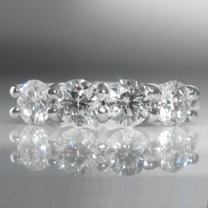 Four Stone Diamond Ring in 18k White Gold