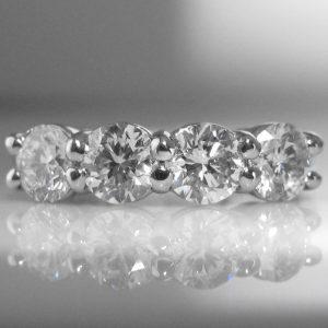 Four Stone Diamond Ring in Platinum