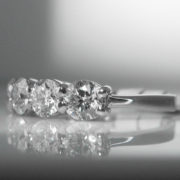 Four Stone Diamond Ring in Platinum