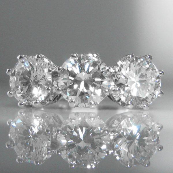 Three Stone Diamond Ring - 2.66cts