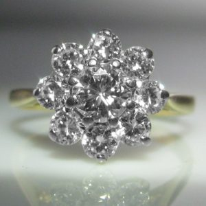 Diamond Cluster Ring - 1.12 cts