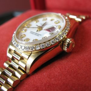 Ladies Diamond Set - White Dial - 18k Rolex 79178 - Box and Papers