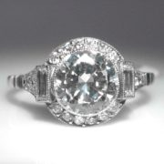 Art Deco Style Diamond Ring - 1.58 cts