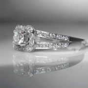 Diamond Ring - Signed Mauboisson - 18k White Gold