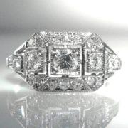 Art Deco Style Diamond Ring in Platinum