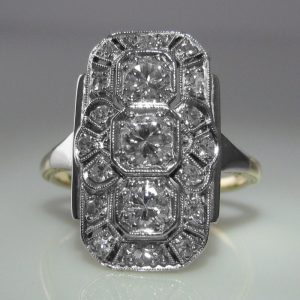 Art Deco Diamond Tablet Ring