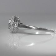 Art Deco Style Diamond Ring in Platinum
