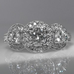 Diamond Trilogy Cluster Ring
