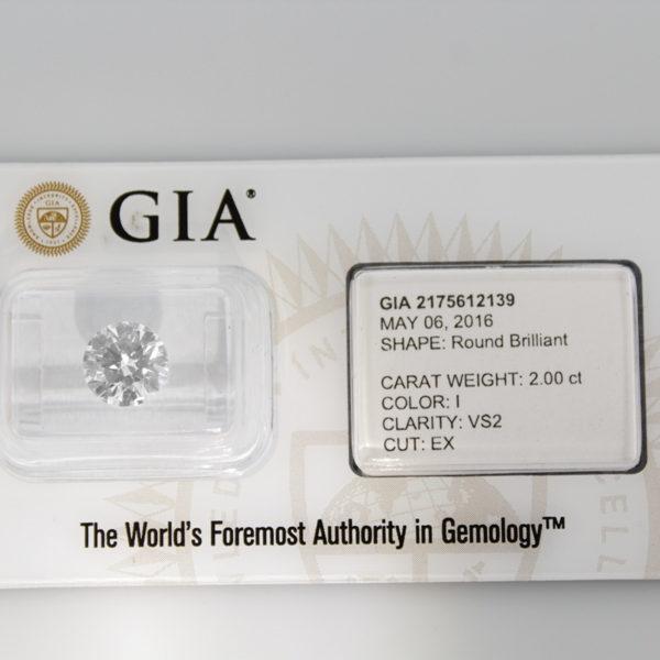 2 Carat Diamond GIA Certified I VS2