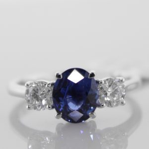 Sapphire And Diamond Trilogy Ring