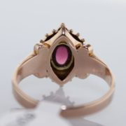 Pearl and Garnet Ring in 14k Yellow Gold