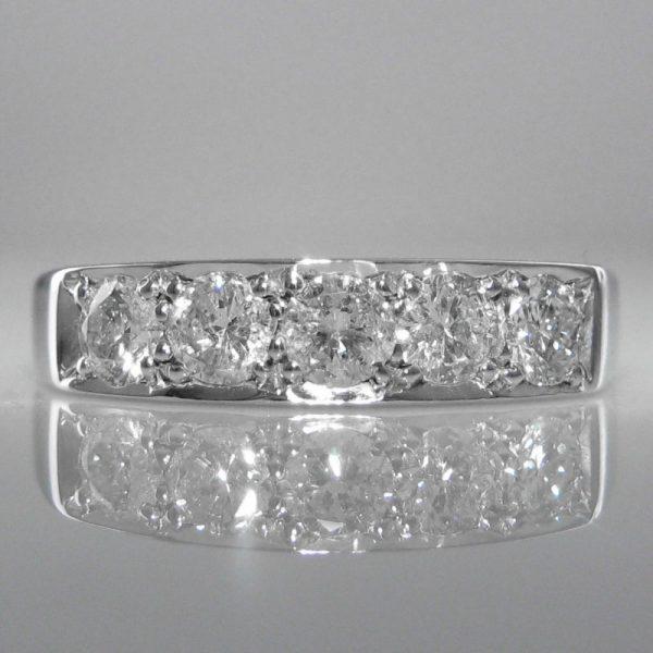 Five Stone Diamond Eternity Ring