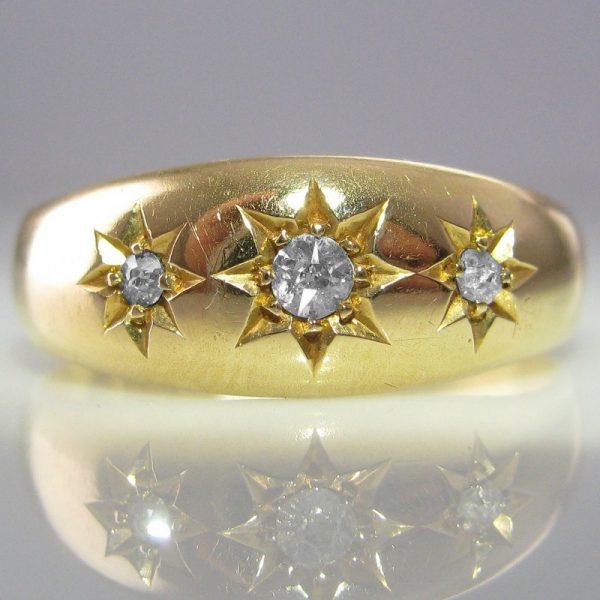 Edwardian Diamond Ring 18k Chester