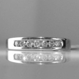 Diamond Eternity Ring in 9k White Gold