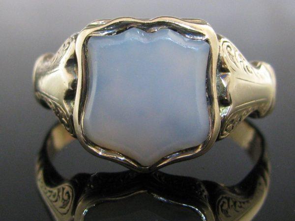 Rare Victorian Gold Signet Locket Ring
