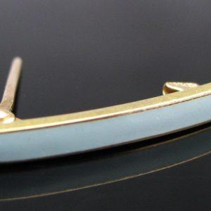 'Something Blue' Enamel Pin in 14k Gold