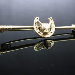Irish Made 9K Gold Equestrian Brooch
