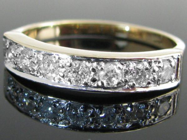 Diamond 7 Stone Eternity Ring, Diamond Ring, Jewellery, Galway, Ireland, The Antiques Room