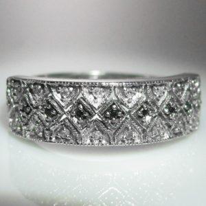 Diamond 9k White Gold Ring Irish Made