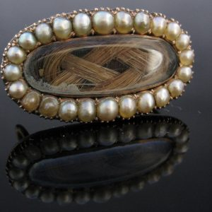 Antique Victorian Pearl Brooch