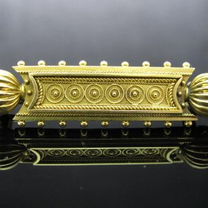 Antique Victorian Etruscacn 18k Gold Brooch
