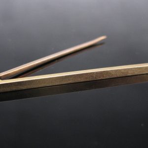 15k Gold Plain Bar Pin Brooch