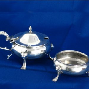 1920's Silver Mustard & Salt Pot Set