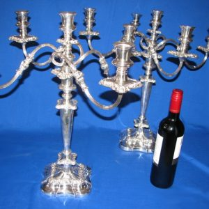Regency Style Five light Candleabra (Pair)