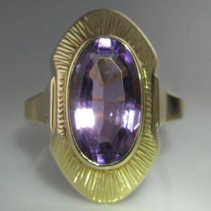Amethyst Plaque Ring