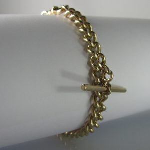 9k Gold Curb Link Bracelet, Jewellery, Galway, Ireland, The Antiques Room