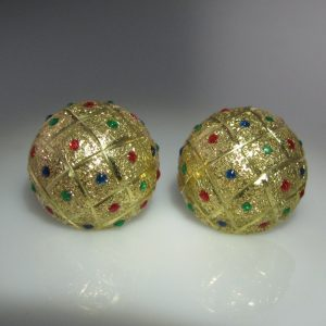 Vintage Multi-Gem Earrings